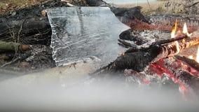 Rapid Ice melting stock footage