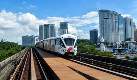 Rapid KL - Light Rail Train in Kuala Lumpur, Malaysia. Rapid KL is a public transport system brought by Prasarana Malaysia and operated by its subsidiaries stock photos