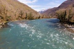 Rapid mountain river, Abkhazia Stock Image