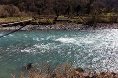 Rapid mountain river, Abkhazia Royalty Free Stock Image