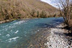 Rapid mountain river, Abkhazia Royalty Free Stock Photos