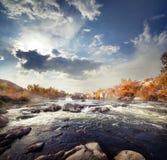 Rapid mountain river among stones Stock Image