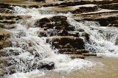 Rapid mountain stream. Close up Stock Image