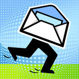 Rapid Post. Mail post marketing Stock Image