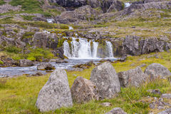 Rapid river in Dynjandi area - Iceland, Royalty Free Stock Photography