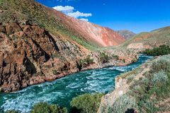 Rapid river Kekemeren, Tien Shan, Kyrgyzstan Stock Photography