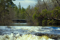 Rapid river in spring Stock Images