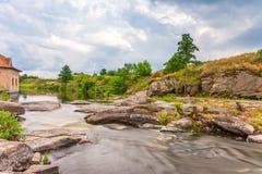 Rapid river in summer. Landscape Stock Image
