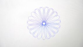 Spiral Drawing of a Delicate Floral Shape