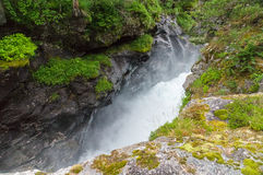 Rapid stream of Rauma river Royalty Free Stock Images