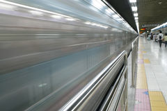 Rapid train arriving Royalty Free Stock Images