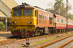 Rapid train 112 from Den-Chai to Bangkok Stock Images