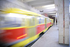 Rapid tram in Volgograd Stock Image
