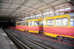 Rapid tram in Volgograd Royalty Free Stock Photography