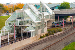 Rapid transit arrival Royalty Free Stock Photography