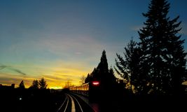 Rapid Transit Sunrise Royalty Free Stock Photos