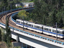 Rapid Transit Train In Edmonton Alberta Royalty Free Stock Photo