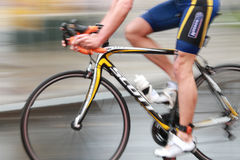 Rapid triatlete cycling Stock Photography