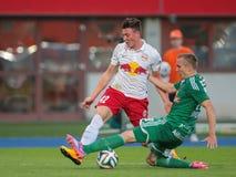Rapid vs. Salzburg Stock Photos