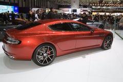 亚斯顿马丁Rapide S全球首演-日内瓦汽车展示会2013年 库存照片