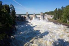 Rapide d'Imatrankoski dans Imatra, Finlande photo libre de droits