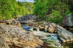 Rapide maestose del fiume di Linville Fotografie Stock