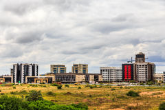 Rapidly developing central business district, Gaborone, Botswana. 2017 stock images