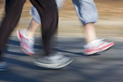 Rapidly Moving Feet stock images