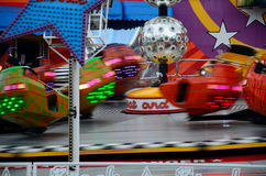 Rapidly rotating carousel Royalty Free Stock Photography