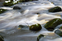 Rapids. Detail of rapids with embedded rocks in Hardcastle Crags Royalty Free Stock Photo