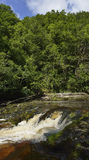 Rapids on Afon Mellte Stock Photography