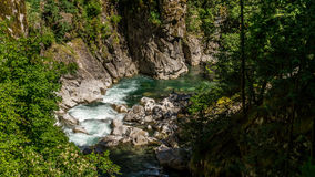 Rapids in the Coquihalla Canyon Stock Image