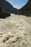 Rapids de fleuve de Fraser, Colombie-Britannique, Canada Image libre de droits