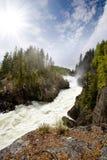 Rapids de l'eau blanche Photos libres de droits