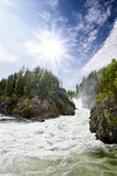 Rapids dell'acqua bianca Immagine Stock Libera da Diritti