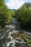 Rapids on the derwent. The river derwent Royalty Free Stock Photography