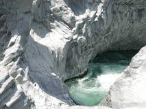 Rapids di Alcantara Fotografia Stock