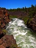 The Rapids. Dillon Falls Rapids - Deschutes River - Bend, OR Stock Photography
