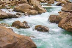 Rapids. Flowing down the Wenatchee river near Levenworth Stock Image