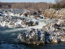 Rapids ghiacciati fotografia stock