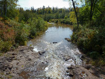 Rapids on Gooseberry River Royalty Free Stock Photography