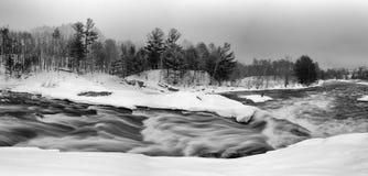 Rapids and Graffiti. Rapids on the Petawawa River along the Emerald Necklace Trail in Petawawa Ontario stock photography