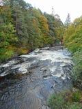 Rapids at Invermoriston falls stock photography