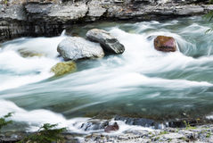 Rapids in McDonald Creek Royalty Free Stock Photo