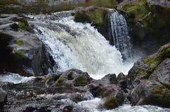 Rapids in Moulton Falls Park, Washington State. A small waterfall or rapids in Moulton Falls State Park, Washington State Stock Photos