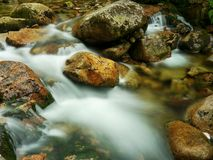 Rapids on the mountain creek Royalty Free Stock Photography