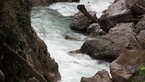 The rapids on the mountain the river Mzymta stock footage