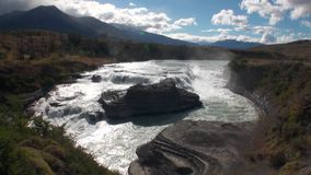 Rapids of mountain river show power water in Patagonia Argentina. stock video