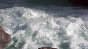 Rapids of mountain river show power water In Patagonia Argentina. stock video footage