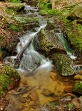 Rapids on a mountain stream Royalty Free Stock Photo